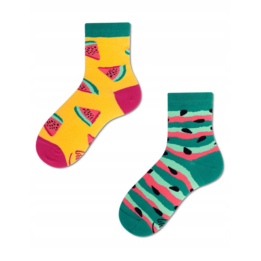 Veselé ponožky detské WATERMELON SPLASH melón jadierka 27-30 farebné megamix.sk