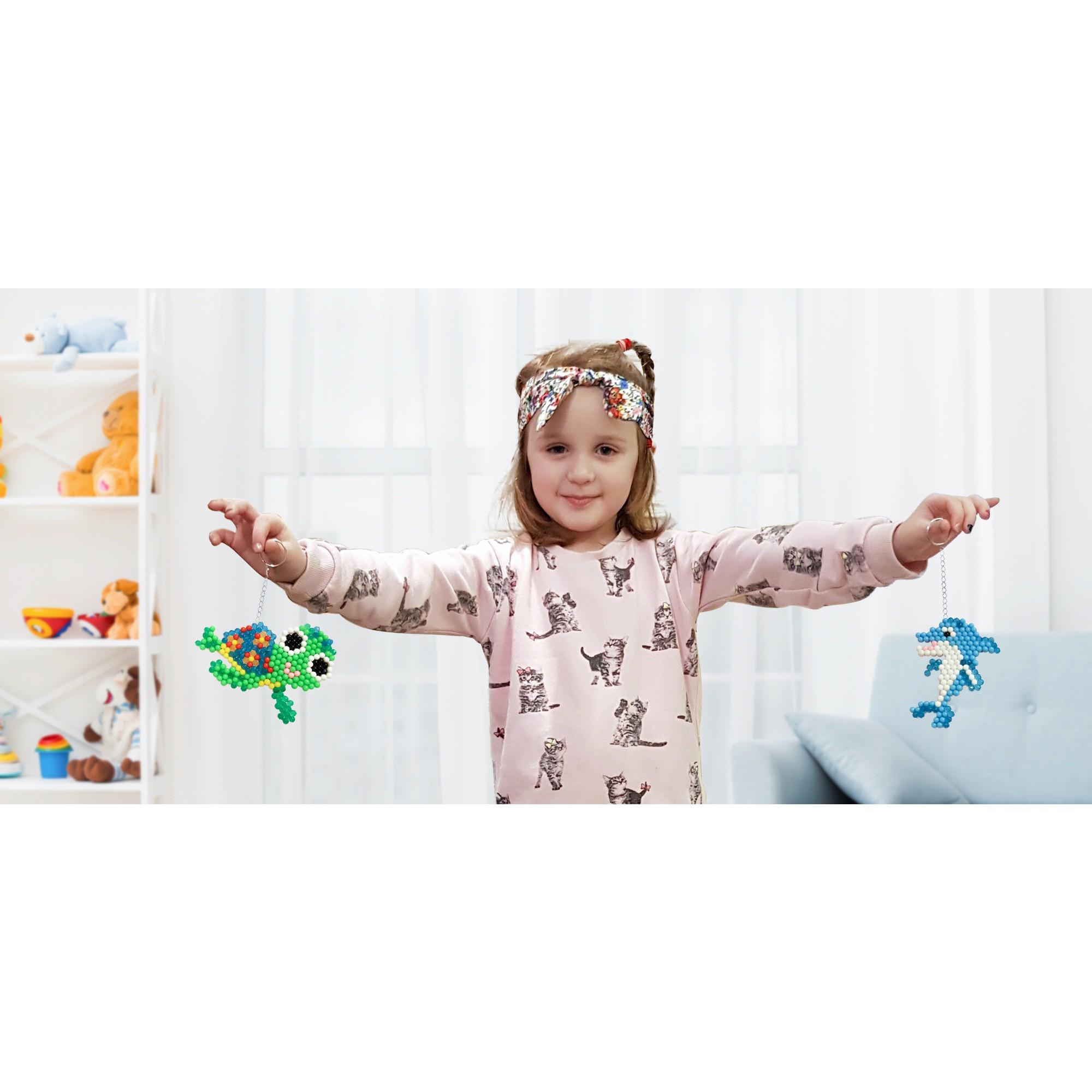 vodné korálky pre deti 2600ks šablóny pinzeta miska megamix.sk