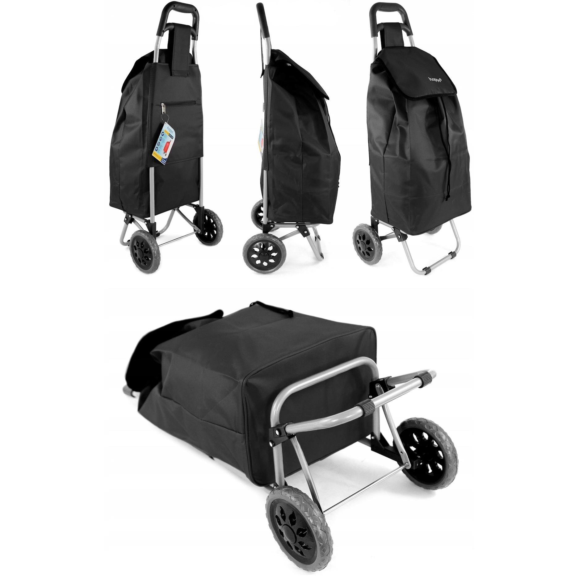 vozík na nákupy 47L skladací na kolieskach so stojanom megamix.sk