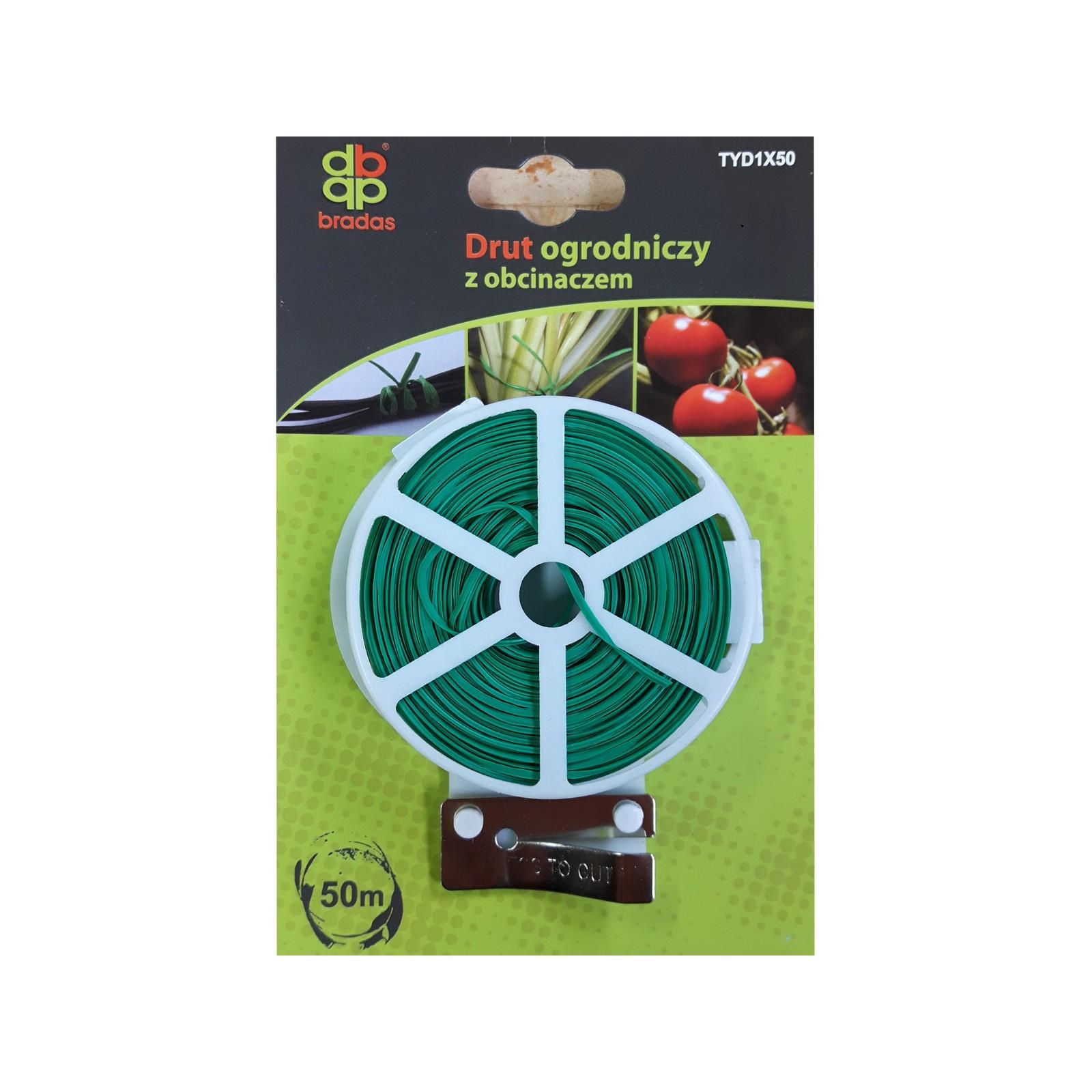 Záhradný drôt zelený 50m a nožík na rezanie drôtu megamix.sk