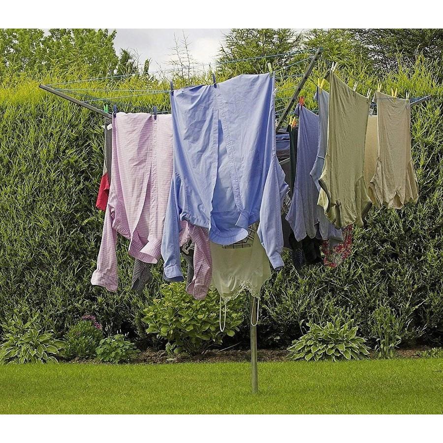 záhradný sušiak na prádlo rotačný skladací 4-ramená vonkajší na bielizeň megamix.sk