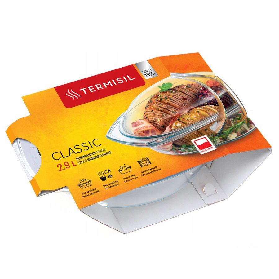 žiaruvzdorná miska na pečenie do rúry hladká oválna 2,9l Termisil megamix.sk