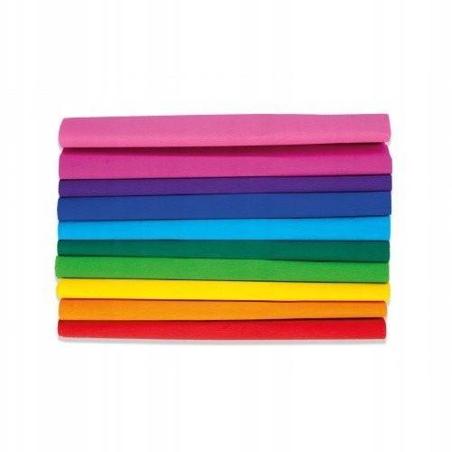 zvrásnený hodvábny papier 25x200cm mix 10 farieb Rainbow megamix.sk