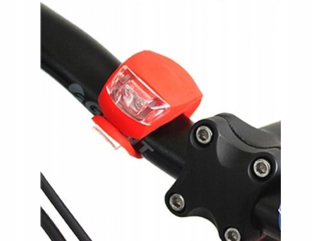 LED dióda svetlo na bicykel 2ks predné zadné megamix.sk